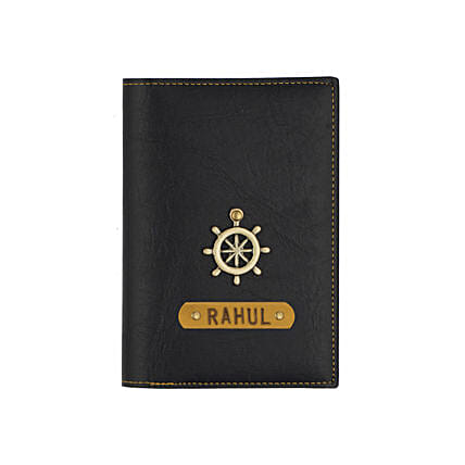 Black Personalised Passport Cover: Fashion Accessories