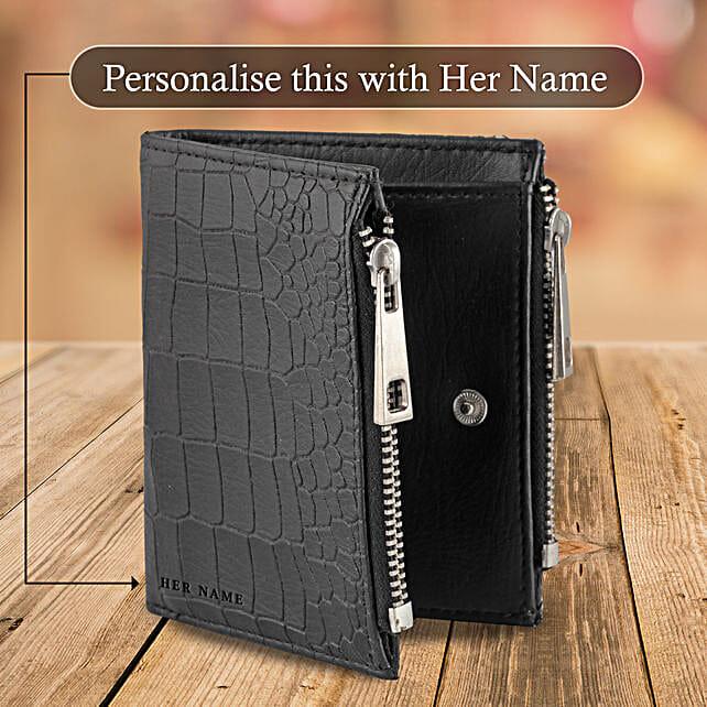 Black Zipper Wallet Pouch: