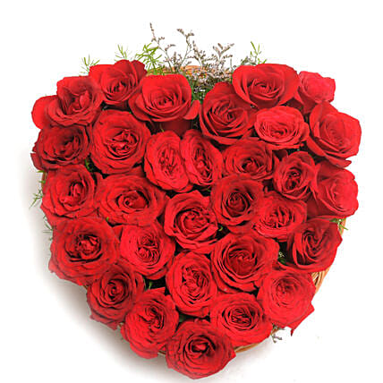 Heart Shaped Red Rose Arrangement: Gifts for Hug Day