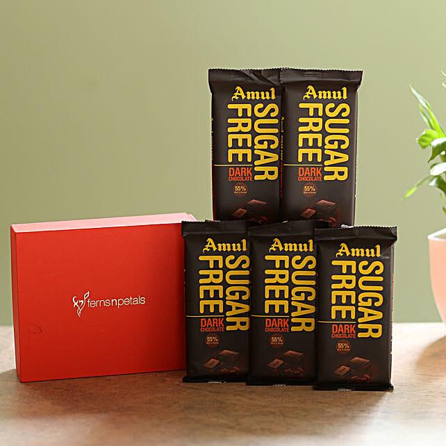 Box Of Sugar Free Amul Chocolates: Gifts for Hug Day