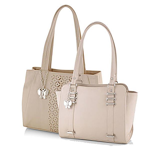 Butterflies Classic Beige Handbag Combo: Buy Handbags