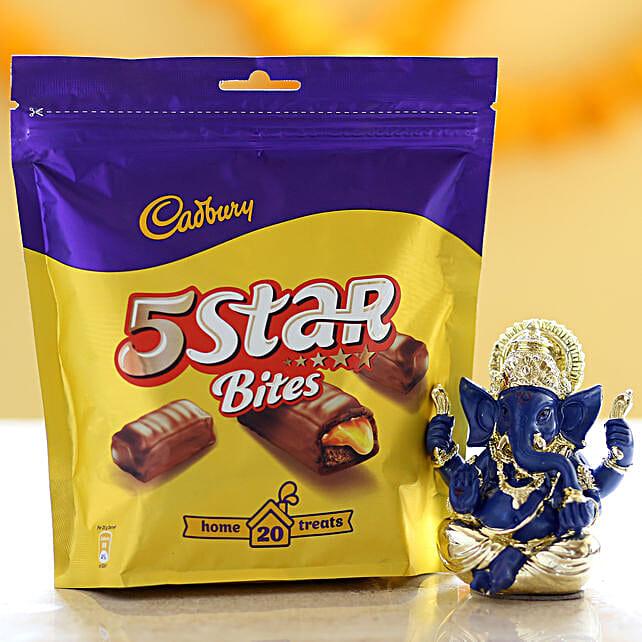Cadbury 5 Star Pack & Ganesha Idol: