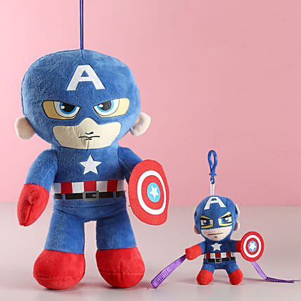 Captain America Kids Rakhi & Toy Combo: