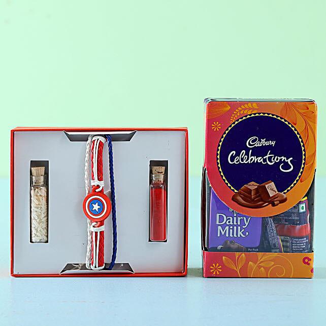 Captain America Rakhi Celebrations Box: Rakhi Combos