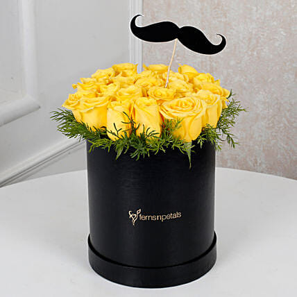 Cheerful Yellow Roses For Him Birthday Gifts