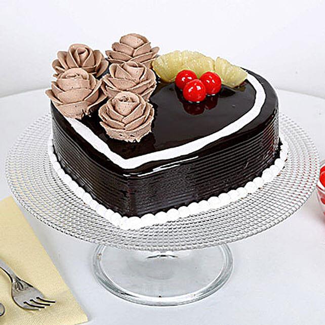 Chocolate Heart Cake: Designer Cakes to Faridabad
