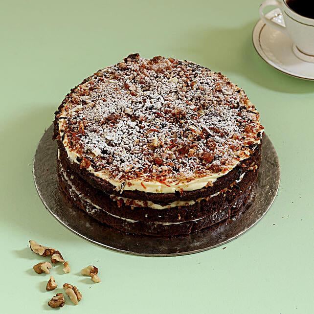 Chocolaty Carrot Walnut Cake: