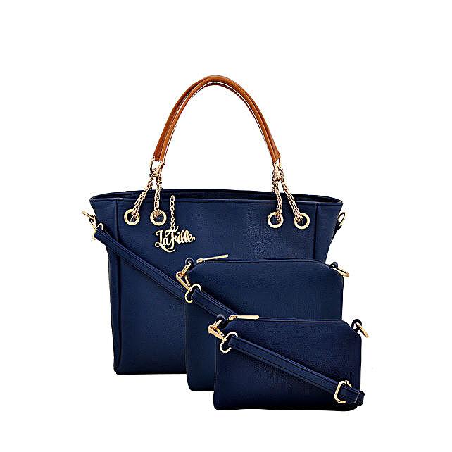 Classy Blue LaFille Handbag Set: Buy Handbags