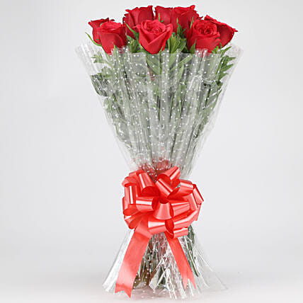 Classy Red Roses Bouquet: Gifts for Hug Day