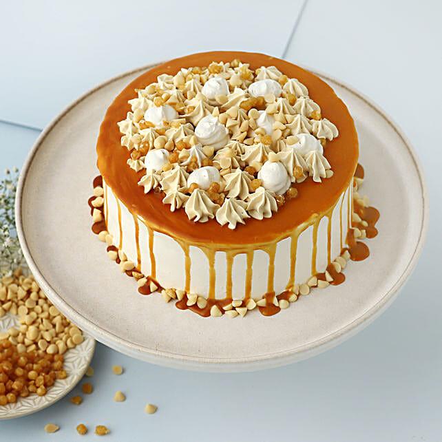 Cream Drop Caramel Cake: