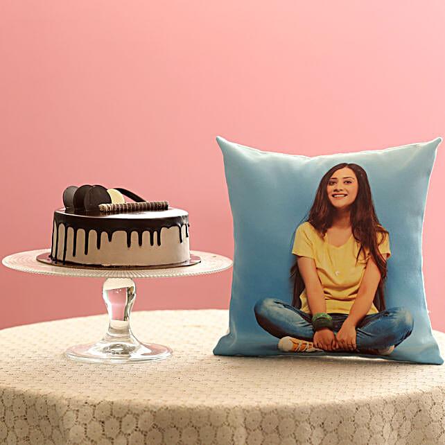 Creamy Chocolate Cake & Picture Cushion Combo: