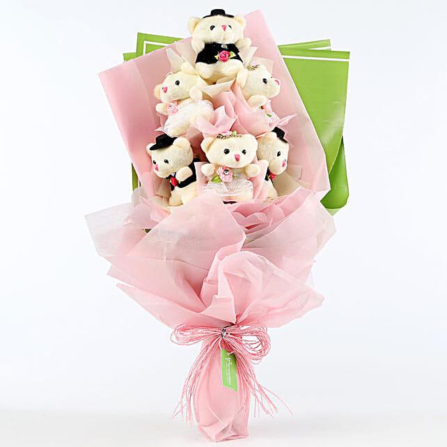 Cuddly Teddy Bear Bouquet: Soft Toys Gifts
