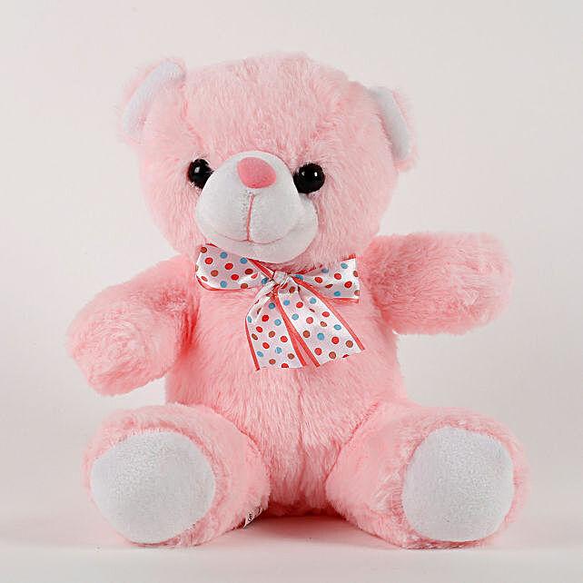 Cute Pink Sitting Teddy Bear: Gifts for Teddy Day