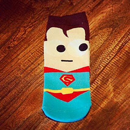 Cute Superman Ankle Length Socks: Apparel Gifts