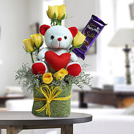 Cute Teddy Surprise: Gift Hampers