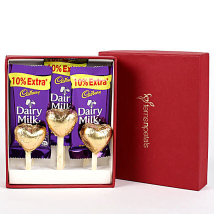 Dairy Milk & Handmade Chocolate in FNP Red Box:
