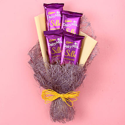 Dairy Milk Silk Chocolate Bouquet: Gifts to India