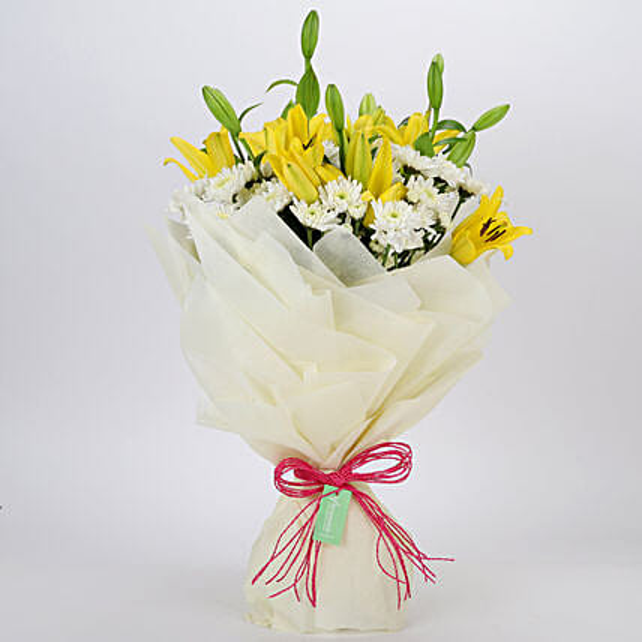 Daisies & Lilies Mixed Love Bouquet: Send Carnations
