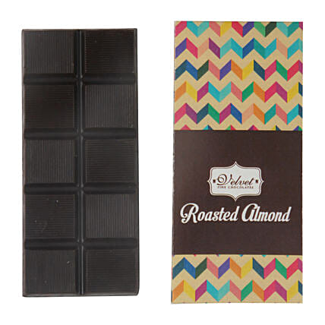 Dark Chocolate Bar Roasted Almonds: Send Holi Chocolates
