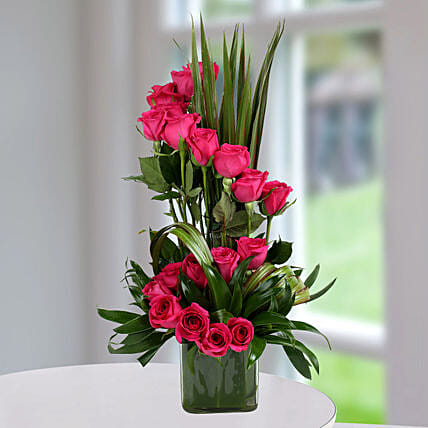 Pink Rose Arrangement: