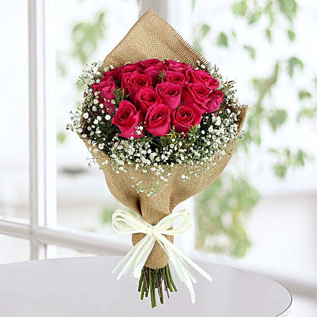 Dark Pink Roses Bunch: Roses