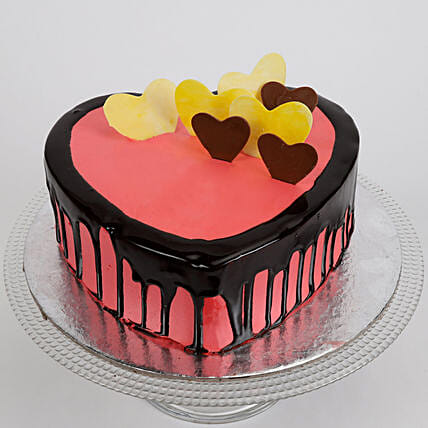 Delicious Hearts Cake: Send Heart Shaped Cakes