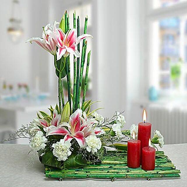 Delightful Arrangement: Send Candles