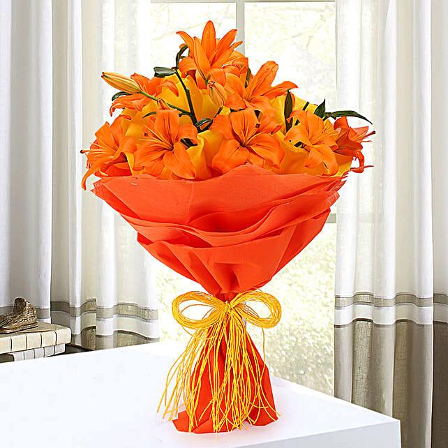Descent Bouquet: Send Lilies