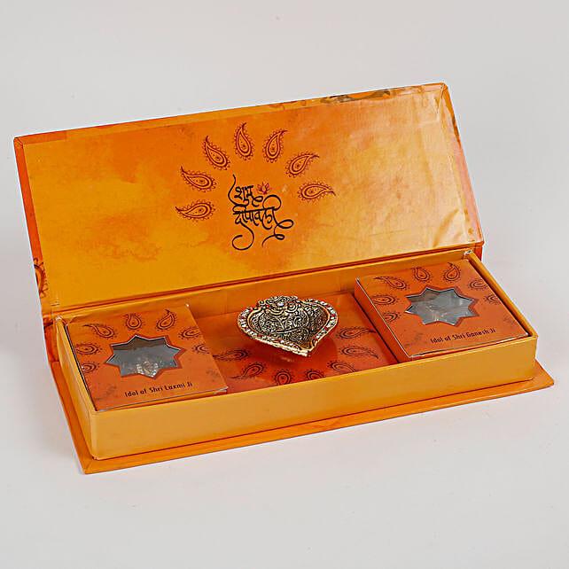 Diwali Poojan Kit With Lakshmi Ganesha Idols: Laxmi Ganesha Idol Gifts
