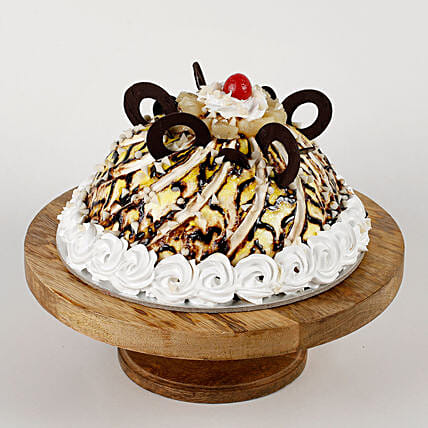 Dome Shaped Choco Coin Cake: Send Black Forest Cakes