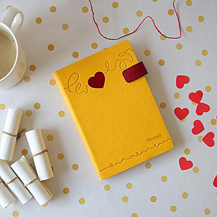 Doodle Heart Beat Personalized Diary: