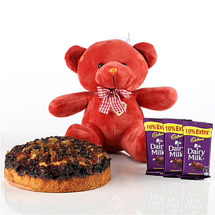 Dry Cake, Teddy & Chocolates Combo: Cadbury Chocolates