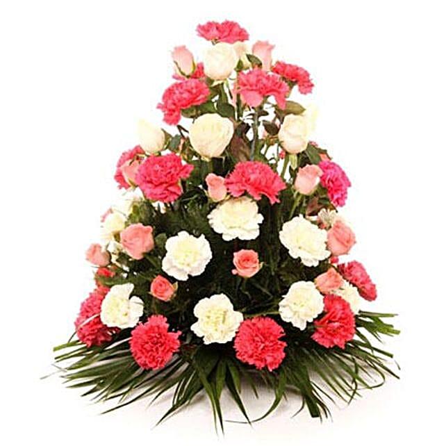 Elegant Blooms Of Sunshine: Flower Basket