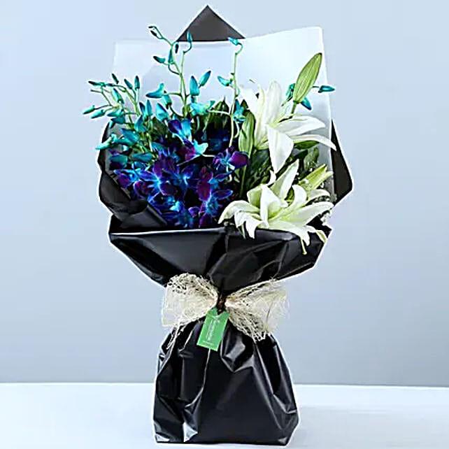 Elegant Mix Flower Bouquet: Send Orchids