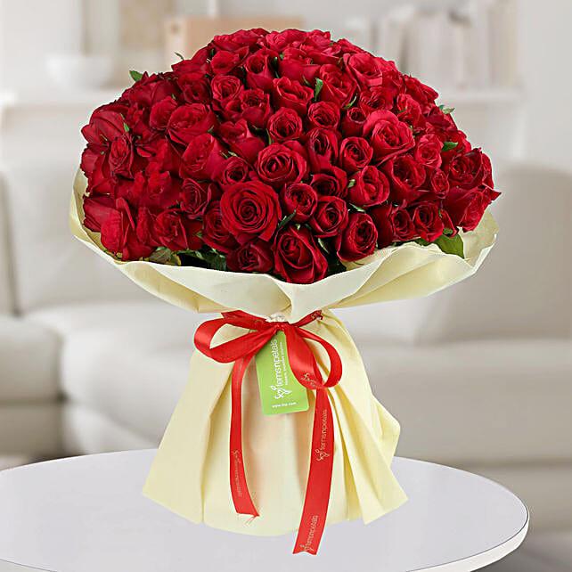Enchanting Red Roses Bunch: Premium Roses