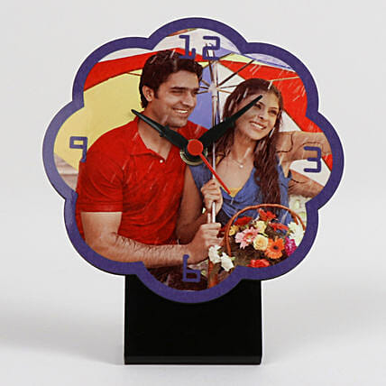 Flower Shaped Personalized Table Clock: Personalised Clocks