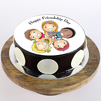 Friendship Day Choco Photo Cake: Friendship Day Gifts