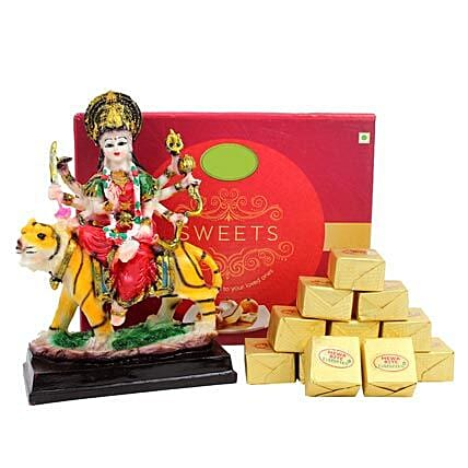 Goddess Durga and Sweets: Send Spiritual Gifts