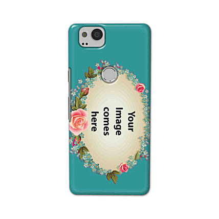 Google Pixel 2 Customised Floral Mobile Case: Personalised Google Mobile Covers