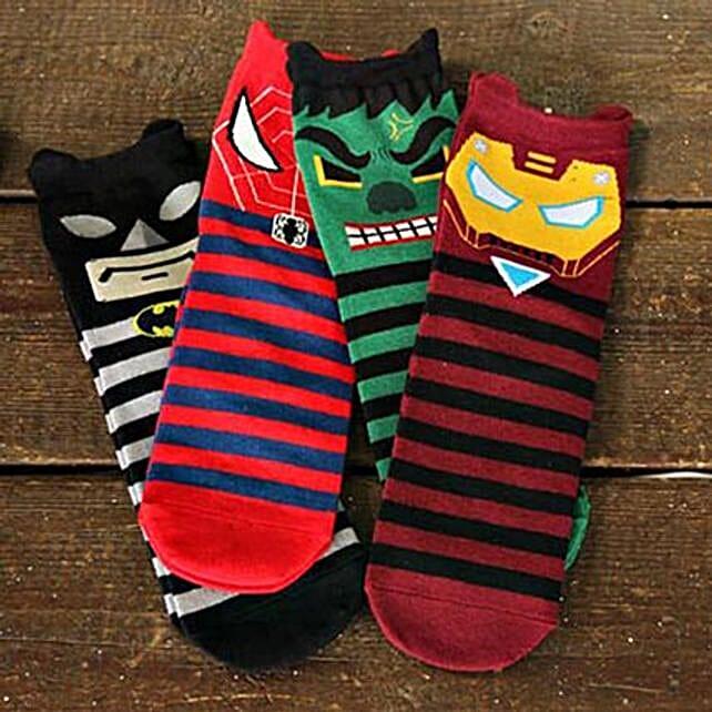 Grumpy Superhero Full Length Socks 5 Pairs: Apparel Gifts