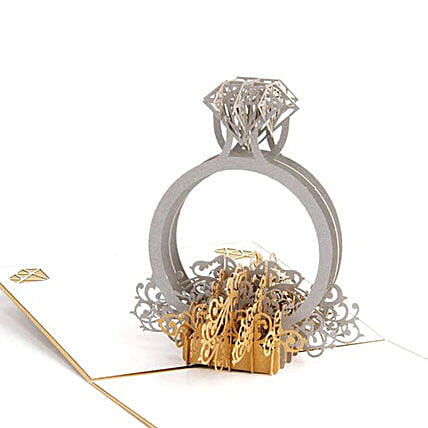 Handmade 3D Pop Up Diamond Ring Greeting Card: Greeting Cards
