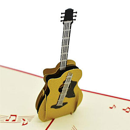 Handmade 3D Pop Up Guitar Greeting Card: Greeting Cards