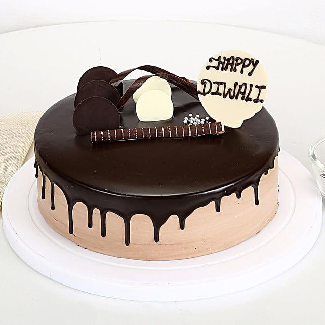 Happy Diwali Chocolate Cake: Send Chocolate Cakes