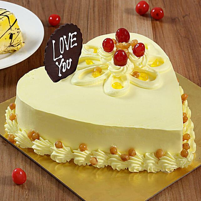 Heart Shaped Butterscotch Cake: Butter Scotch Cakes