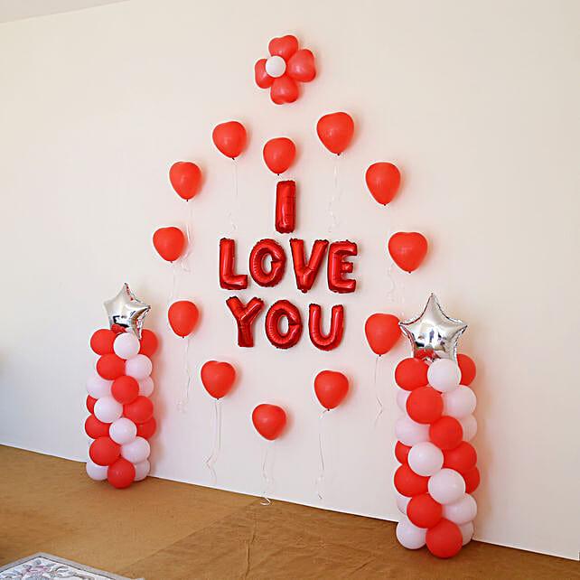 I Love You Balloon Decor: Balloon