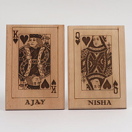King & Queen Wooden Plaques: Send Personalised Gifts for Diwali