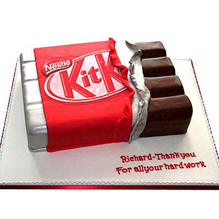 Kit Kat Shaped Cake: Send Designer Cakes