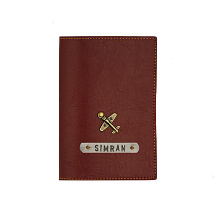 Leather Finish Passport Cover Maroon: Personalised Accessories