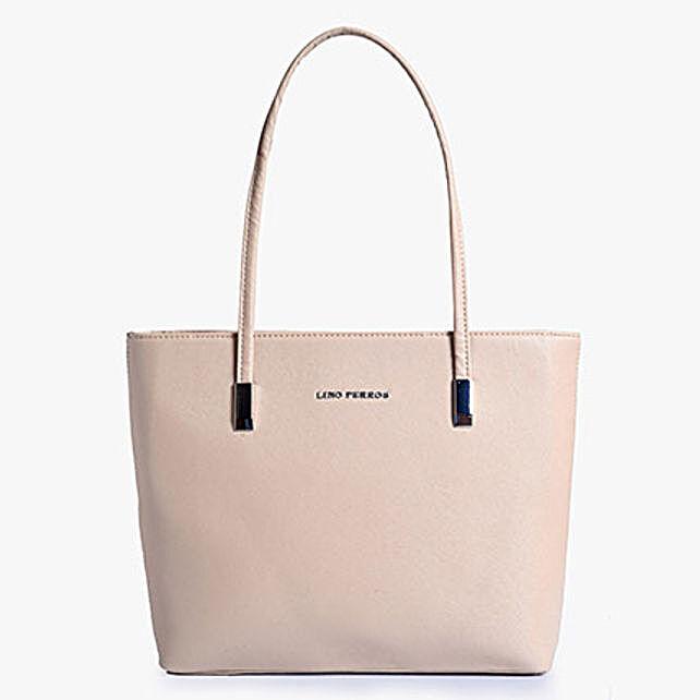 Lino Perros Beige Trendy Tote Bag: Buy Handbags