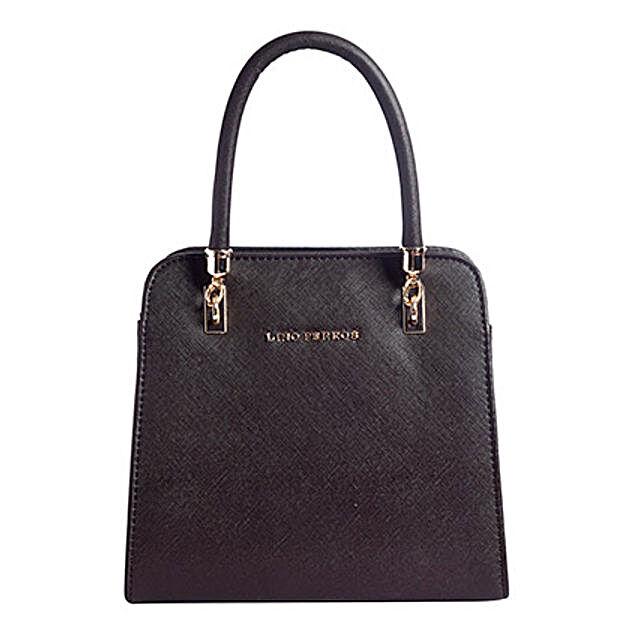 Lino Perros Leatherette Brown Handbag: Handbag Gifts